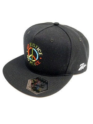 7UNION(セブンユニオン)/ NO JUSTICE PEACE CAP -BLACK-