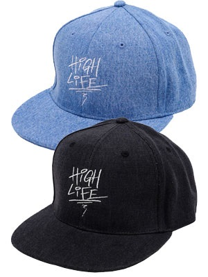 High Life(ハイライフ)/ GRAFFITI 6P DENIM SNAPBACK CAP