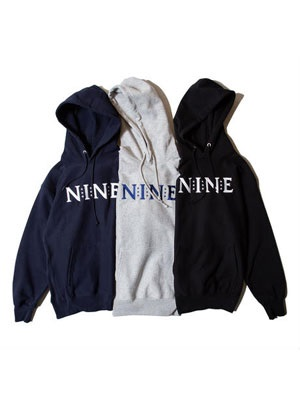 NINE RULAZ(ナインルーラーズ)/ NINE LOGO EMBROIDERY SWEAT HOODIE