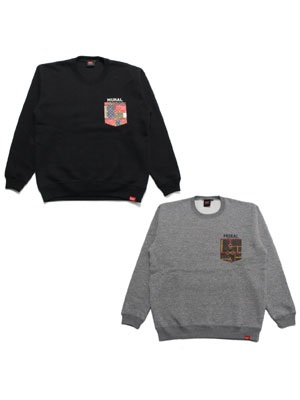 MURAL(ミューラル)/ MONOGRAM POCKET SWEAT