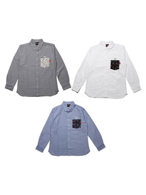 MURAL(ミューラル)/ OX POCKET LS SHIRT
