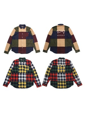 SCREP(スクレップ)/ PATCHWORK SHIRT