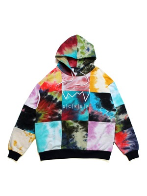 SCREP(スクレップ)/ CRAZY PATCH TIE-DYE HOODY