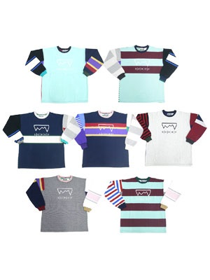 SCREP(スクレップ)/ MULTI RUGBY T-SHIRT -L SIZE-