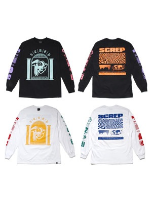 SCREP(スクレップ)/ FOUR COLOR LS T-SHIRT