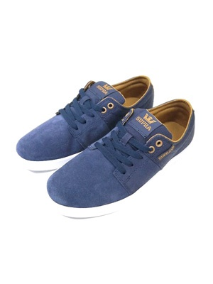 SUPRA(スープラ)/ STACKS -NAVY/TAN-