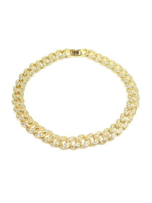 ADVANCE(アドバンス)/ GOLD CHAIN NECKLACE -喜平 CUBIC ZIRCONIA 45cm-