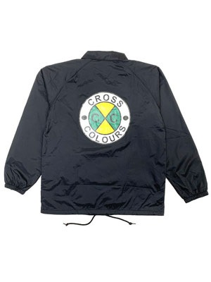 CROSS COLORS(クロスカラーズ)/ CIRCLE LOGO COACH JACKET -BLACK-