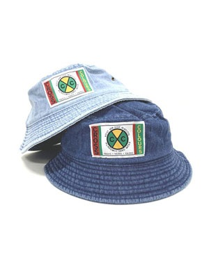 CROSS COLORS(クロスカラーズ)/ LABEL LOGO DENIM BUCKET HAT
