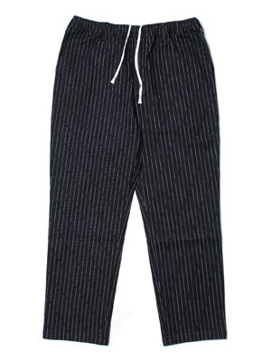 CHEERS(チアーズ)/ DENIM STRIPE TAPERED EASY PANTS -BLACK-