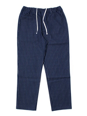 CHEERS(チアーズ)/ DENIM STRIPE TAPERED EASY PANTS -NAVY-