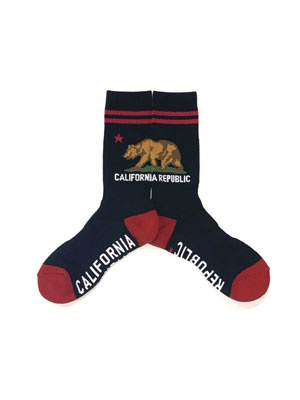 ZENITH(ゼニス)/ CALIFORNIA GRIZZLY SOCKS -BLACK-