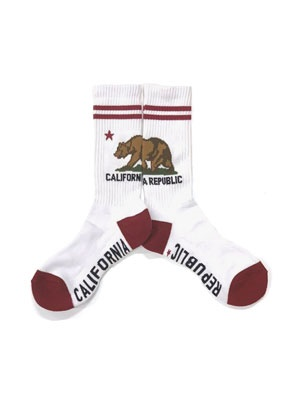 ZENITH(ゼニス)/ CALIFORNIA GRIZZLY SOCKS -WHITE-