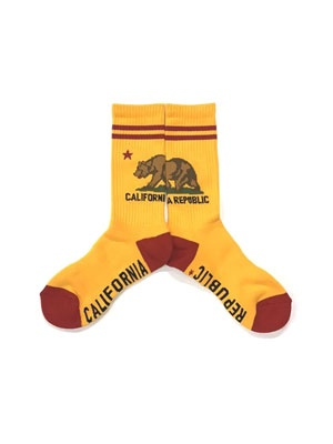ZENITH(ゼニス)/ CALIFORNIA GRIZZLY SOCKS -YELLOW-