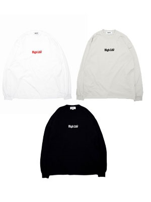 HIGH LIFE(ハイライフ)/ GARMENT DYE EMBROIDERY CREWNECK