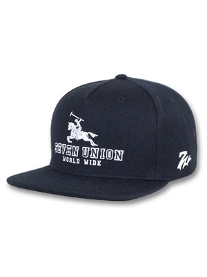 7UNION(セブンユニオン)/ THE WORLD WIDE CAP -BLACK-