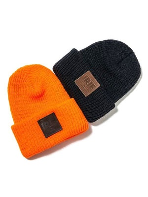 IRIE by irielife(アイリーバイアイリーライフ)/ LEATHER PATCH KNIT CAP