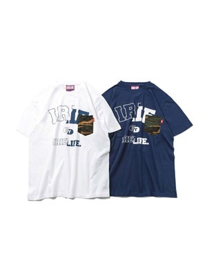 IRIE by irielife(アイリーバイアイリーライフ)/ IRIE COLLEGE LOGO POCKET TEE