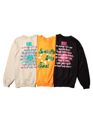 NINE RULAZ(ナインルーラーズ)/ Satisfy My Soul Crew Neck