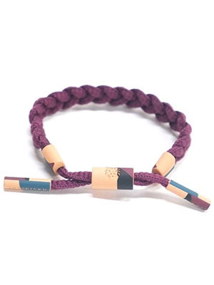 RASTACLAT(ラスタクラット)/ BRAIDED BRACELET LAND SLIDE -BURGUNDY-