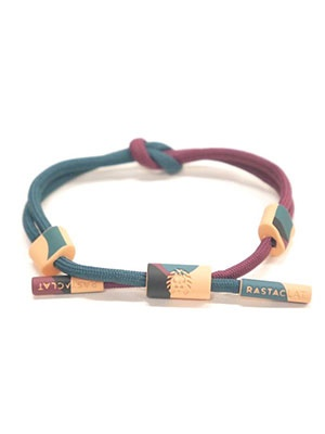 RASTACLAT(ラスタクラット)/KNOTTED BRACELET NIGHTFAULT-BLUE-