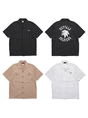 MURAL(ミューラル)/ BS STRIPE WORK SHIRT