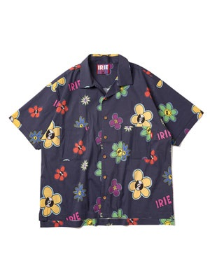 IRIE by irielife(アイリーバイアイリーライフ)/ IRIE FLOWER ALOHA SHIRT -NAVY-