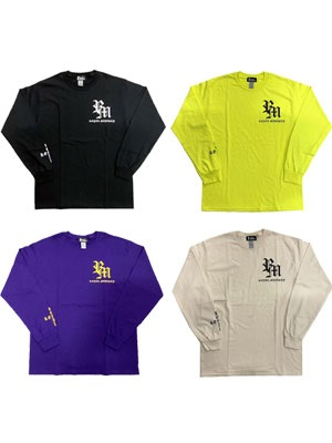 ROYAL MAJESTY(ロイヤルマジェスティー)/ CROSS ON SLEEVE RIB L/S T-SHIRT
