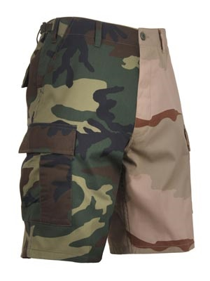 ROTHCO(ロスコ)/ TWO-TONE CAMO BDU SHORT -WOODLAND/DESERT-