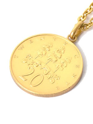 PAYBACK(ペイバック)/ JAMAICA 20C GOLD COIN NECKLACE